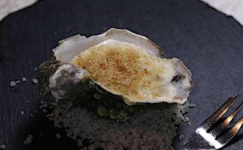 Huîtres gratinées à la crème