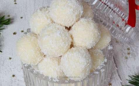 Truffes chocolat blanc - noix de coco