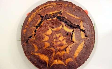 Gâteau marbré chocolat maïs