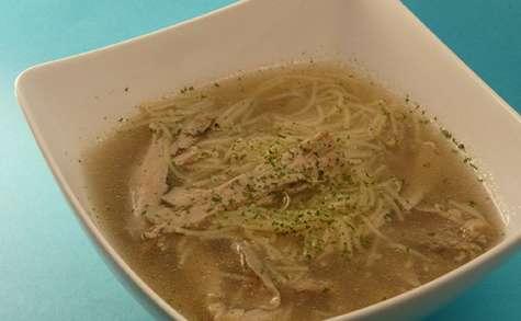 Soupe poulet vermicelles