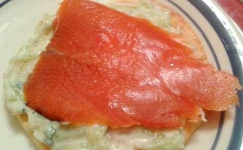 Blini, tzatziki et saumon fumé