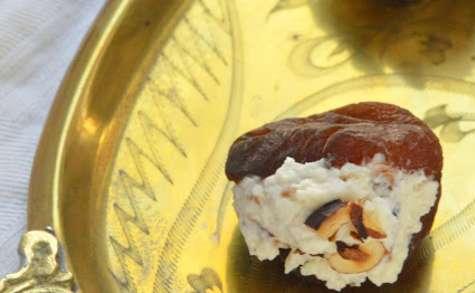 Abricots farcis brousse, Pancetta, noisettes