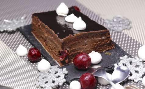 Pavé au chocolat et aux cerises au kirsch