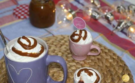 Chocolat chaud gourmand, Chantilly caramel