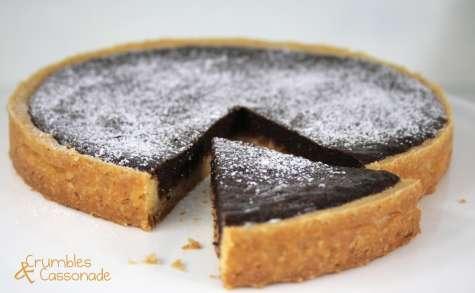 Tarte au chocolat et au croustillant de caramel