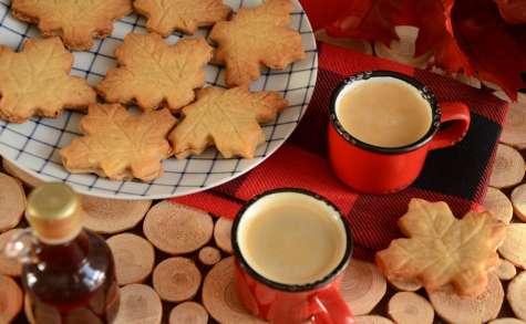 Biscuits feuilles d'érable maison