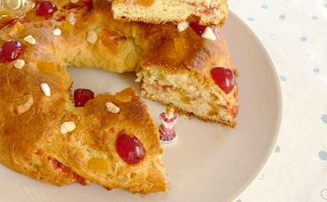 Gâteau des rois brioche aux fruits confits