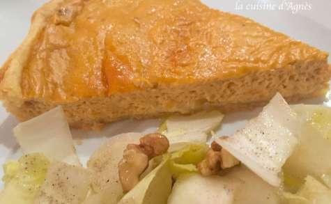 Quiche à la bisque de homard et aux noix de pétoncle
