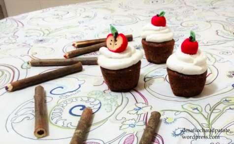 Cupcake pomme et cannelle