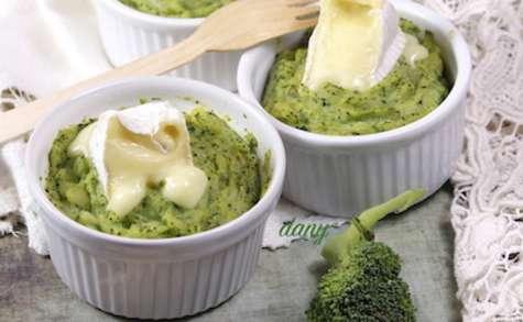 Purée de brocolis au camembert