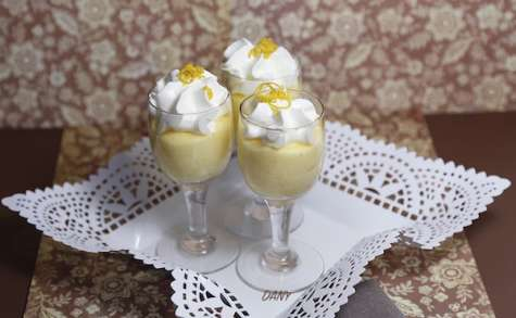 Mousse au citron chantilly vanille