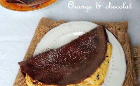 Crêpes soufflées gourmandes, orange et chocolat