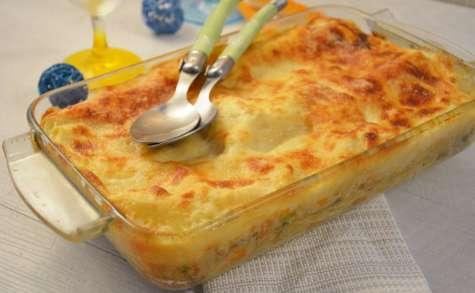 Lasagnes au surimi et petits légumes
