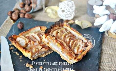 Tartelettes poires à la crème de noisettes et oranges confites