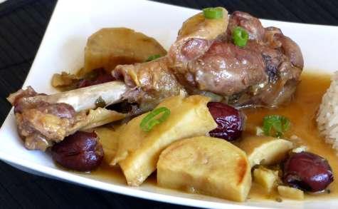 Canard à la patate douce et aux jujubes