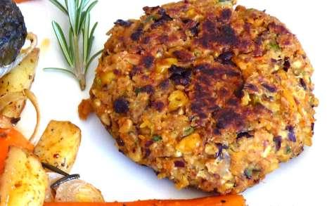 Steaks végétariens aux légumes et flocons d'avoine
