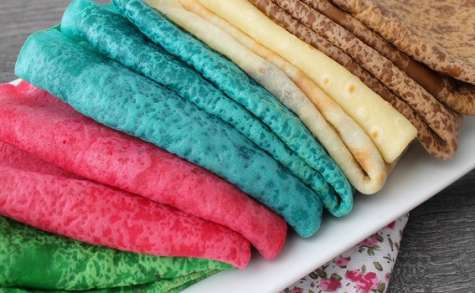 Crêpes colorées