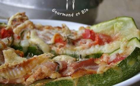 Courgettes farcies façon pizza