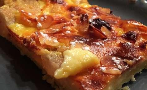 Tarte aux poires et crème pâtissière