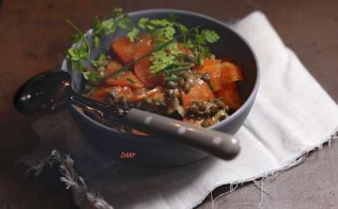 Salade de lentilles aux carottes à l'orange