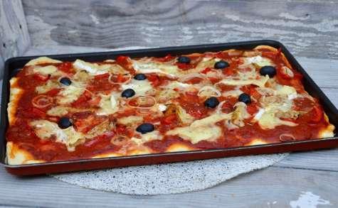 Pizza aux légumes et chèvre