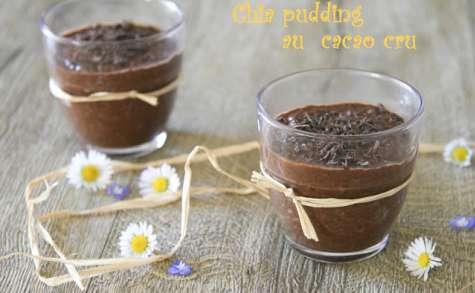 Crème façon chia pudding au cacao cru