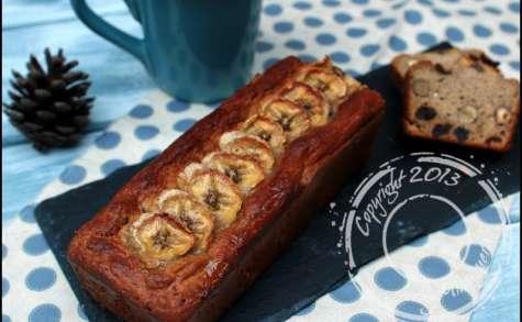 Banana cake moelleux aux fruits secs sans gluten et sans lactose
