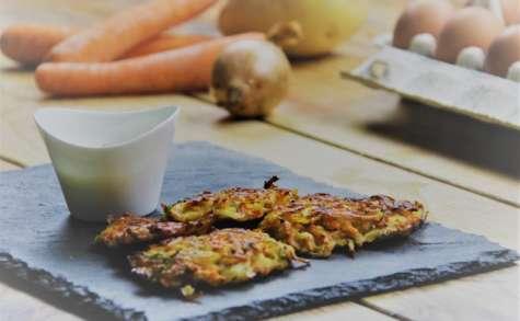 Röstis carottes, pommes de terre, coriandre
