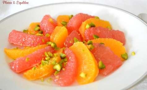 Salade d'agrumes à la fleur d'oranger