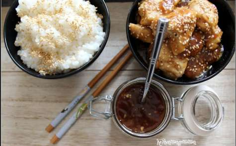 Sauce terriyaki maison , poulet terriyaki au sésame