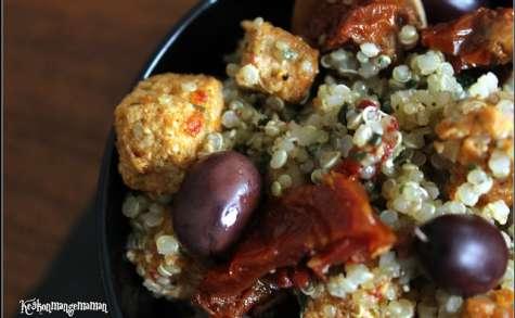 Salade de quinoa au tofu rosso