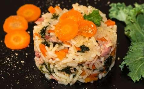 Riz pilaf au chou kale
