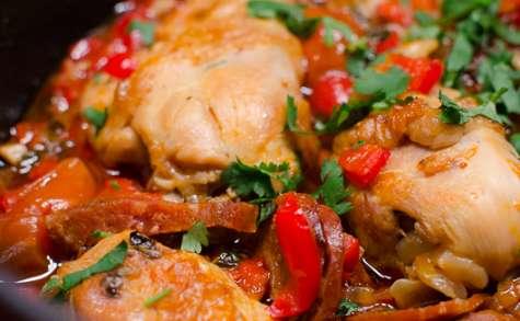 Mijoté de poulet au chorizo et aux légumes