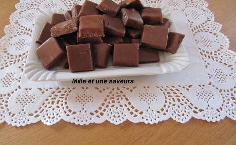 Caramels mous au chocolat à la fleur de sel