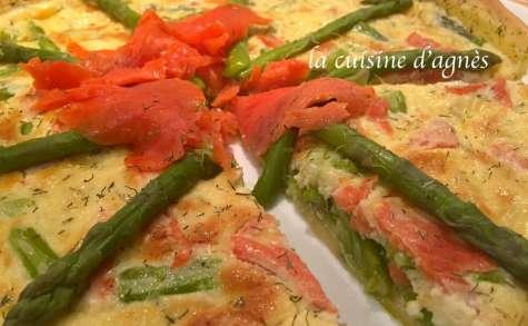 Tarte au saumon fumé et asperges