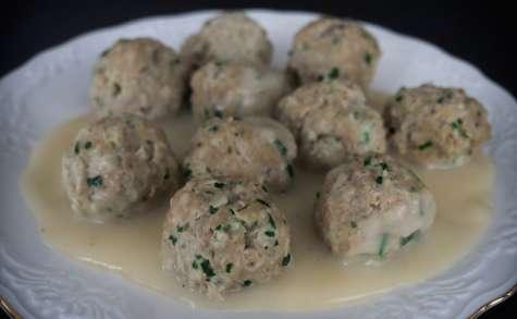 Fleischknepfle, boulettes de viande alsaciennes à la sauce blanche