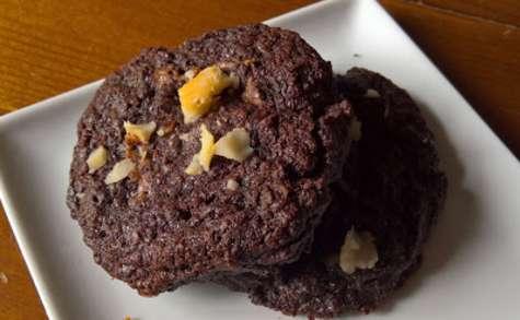 Cookie au chocolat et noix du Brésil, cœur coulant pâte à tartiner
