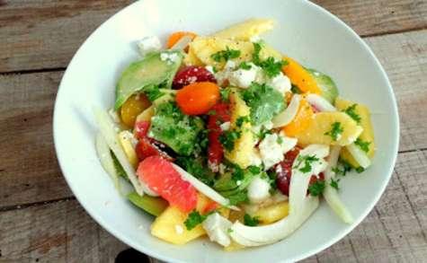 Salade colorée parce que c'est bientôt le printemps