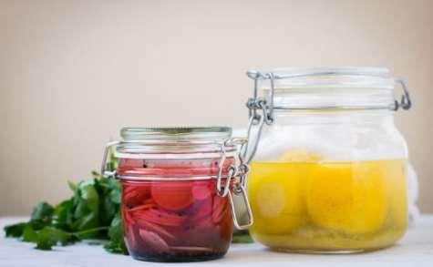 Pickles de radis et citrons confits
