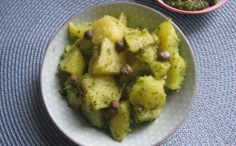 Salade de pommes de terre au pesto de câpres