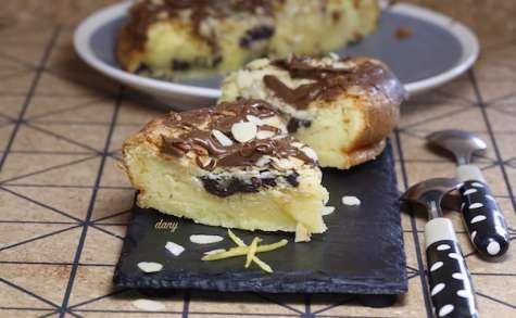 Gâteau léger aux amandes et chocolat
