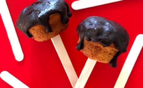 Muffins framboise chocolat minute