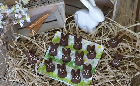 Lapinous en chocolat aux crêpes dentelles