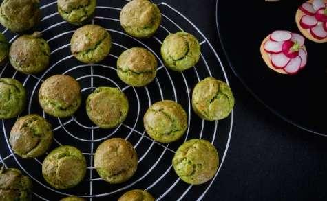 Mini-cakes au vert de poireau, lardons et Tomme du Ried