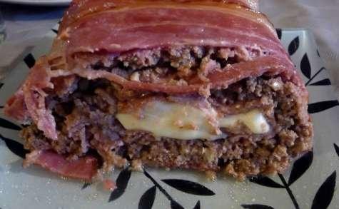 Pain de viande roulé jambon fromage