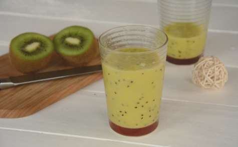 Smoothie mangue kiwi vitaminé