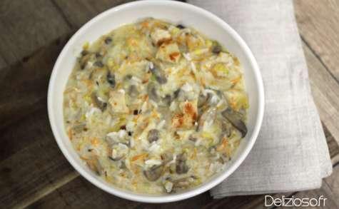 Riz et poulet crémeux aux légumes