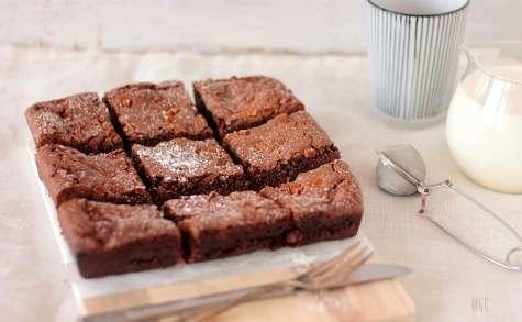 Brownie très fondant au levain chocolat et pépites de caramel
