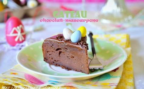 Gâteau chocolat mascarpone, gateau de Paques