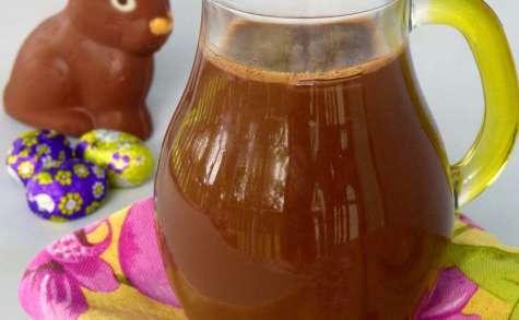 """Sauce au chocolat au lait - spécial """"chocolat de Pâques"""""""